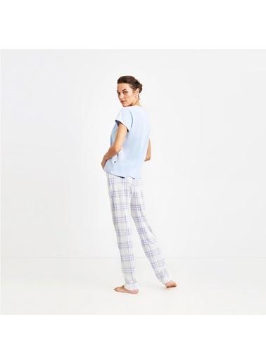 Nautica W110PJTK.MAVI Nautıca Kadın Mavi Pijama Takımı Mavi